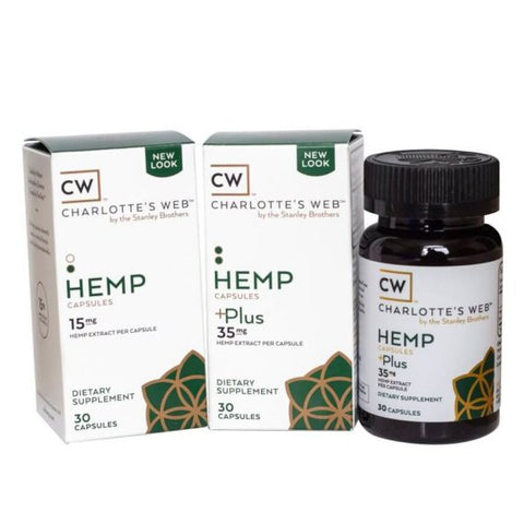 Charlotte's Web  Simply Hemp 450mg Capsules & Simply Hemp+Extra 1050mg Capsules
