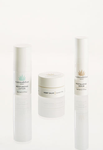 Cannabliss Organic Starter Kit - 5ml Serum, Lotion, and Hemp Salve