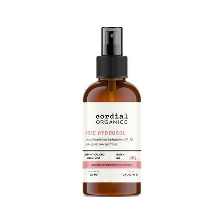 Cordial Organics CBD Infused Lavender or Rose Hydrosol - 100mg CBD