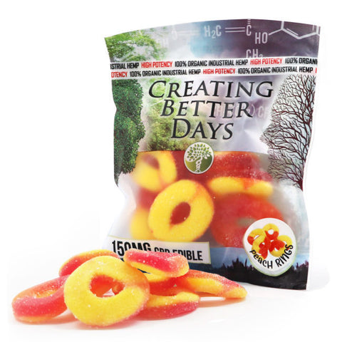 Creating Better Days CBD Gummies Peach Rings