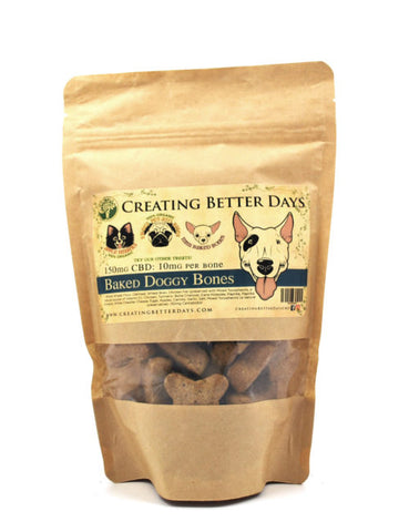 Creating Better Days CBD Large Dog Bone Treats and Mini-Doggy Bone Treats