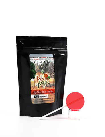 Creating Better Days Peace Pops - 50mg CBD Lollipop