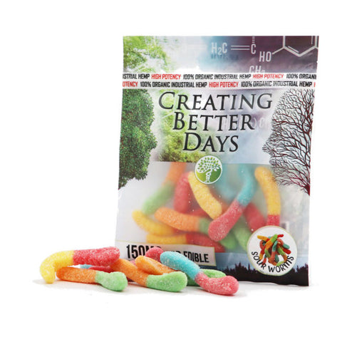 Creating Better Days CBD Sour Gummy Worms