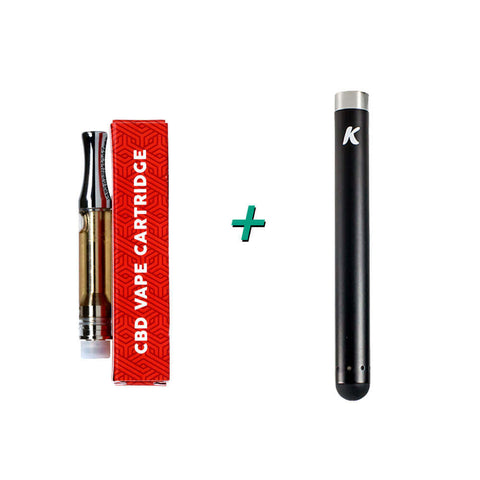 Dixie Botanicals CBD Vape Cartridge 250mg and KandyPens Slim Battery Bundle