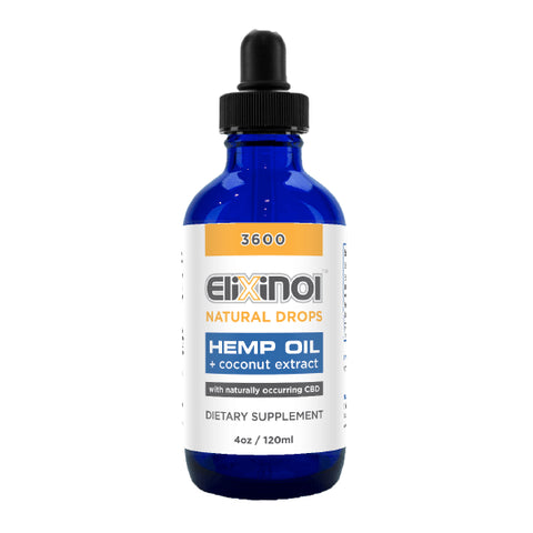 Elixinol Hemp Oil Drops 3600mg CBD