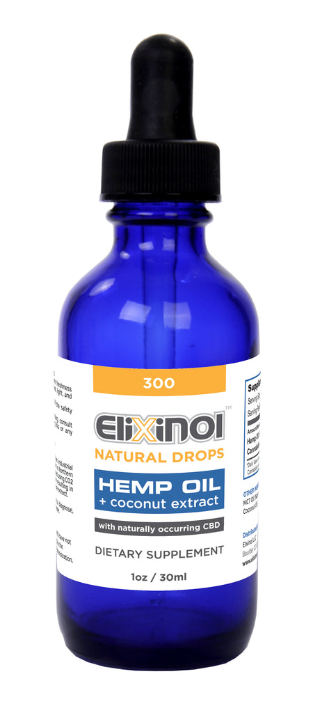 Elixinol Hemp Oil Drops 300mg CBD