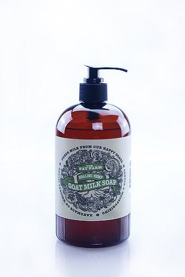 The Fay Farm Healing Hemp Goat Milk Liquid Soap