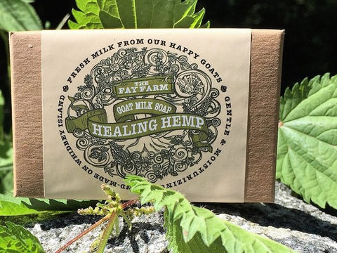 The Fay Farm Healing Hemp Goat's Milk Soap Bar