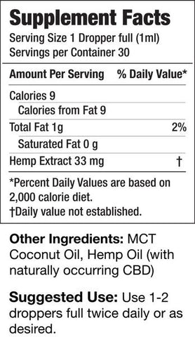 Green Garden Gold 1000mg Med Pac Hemp Oil - MCT Coconut Oil