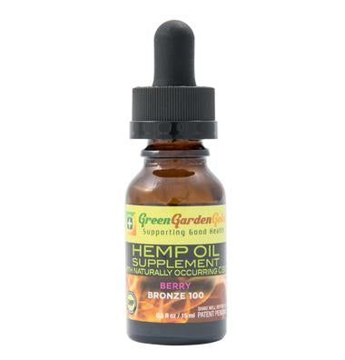 Green Garden Gold 100mg Bronze Hemp Oil 15ml