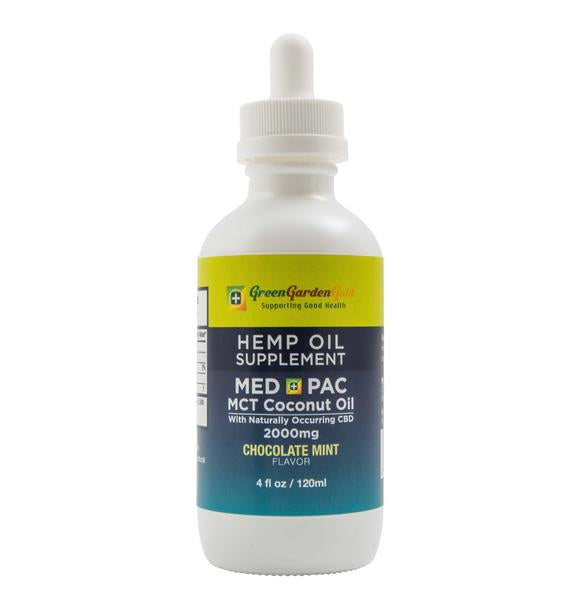 Green Garden Gold 2000mg Med Pac Hemp Oil - MCT Coconut Oil