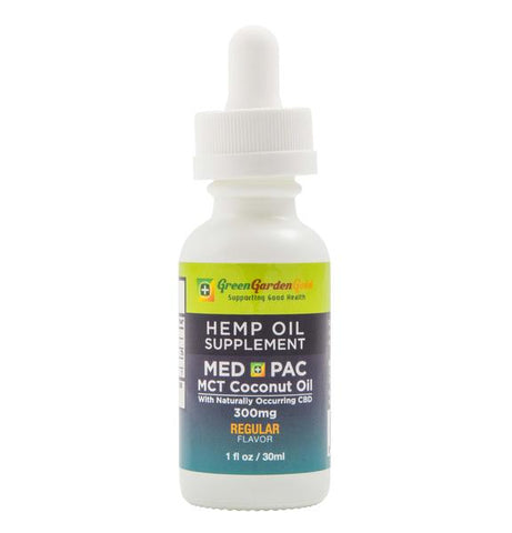 Green Garden Gold 300mg Med Pac Hemp Oil - MCT Coconut Oil