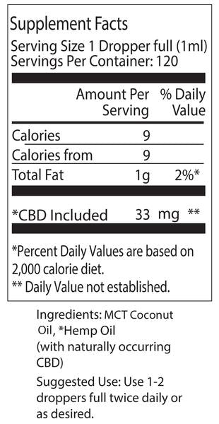 Green Garden Gold 4000mg Med Pac Hemp Oil - MCT Coconut Oil
