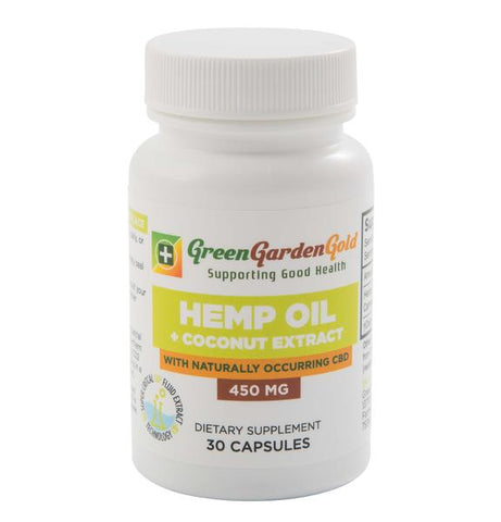 Green Garden Gold 450mg Hemp Oil Coconut Extract Capsules
