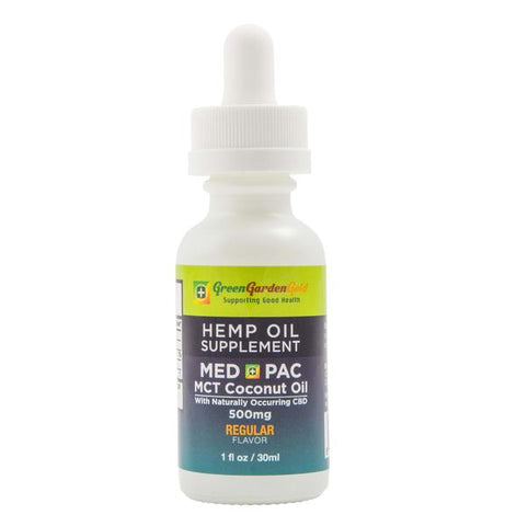 Green Garden Gold 500mg Med Pac Hemp Oil - MCT Oil