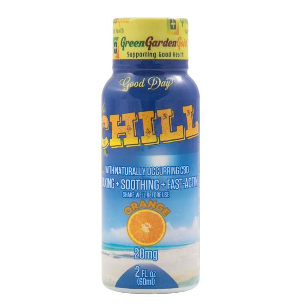 Green Garden Gold Chill Shot 20mg Water Soluble, Naturally Occurring CBD