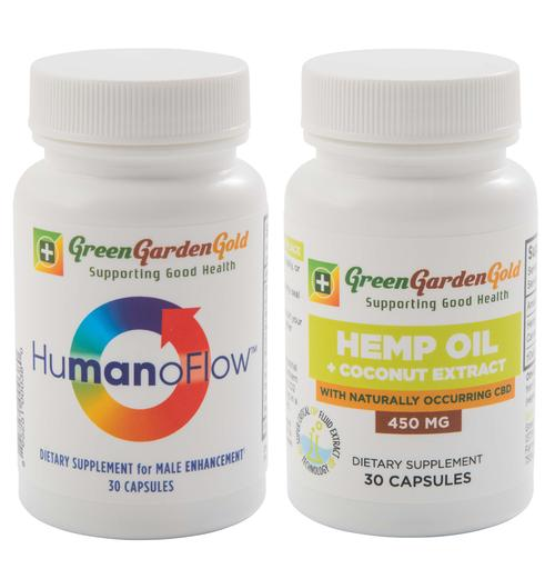 Green Garden Gold HumanoFlow & Hemp Oil Capsules Bundle