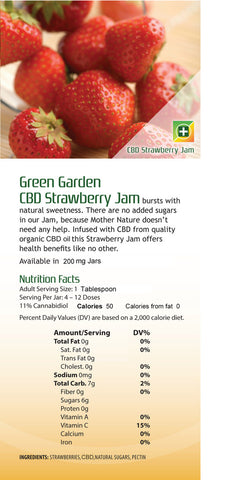 Green Garden Gold CBD Strawberry Jam