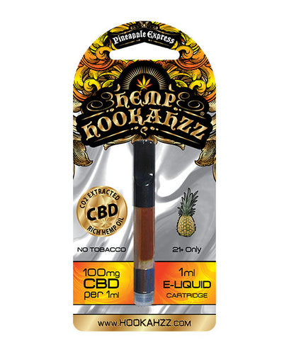 Hemp Hookahzz: 100mg Hemp CBD E-Liquid Prefilled Cartridge