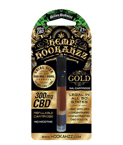 Hemp Hookahzz: 10mg Hemp CBD E-Liquid Prefilled Cartridge