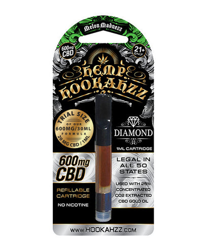 Hemp Hookahzz: 20mg Hemp CBD E-Liquid Prefilled Cartridge