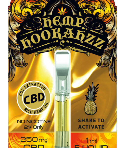 Hemp Hookahzz: 250mg Hemp CBD E-Liquid Prefilled Cartridge
