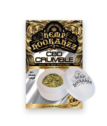 Hemp Hookahzz:  CBD Concentrate Crumble
