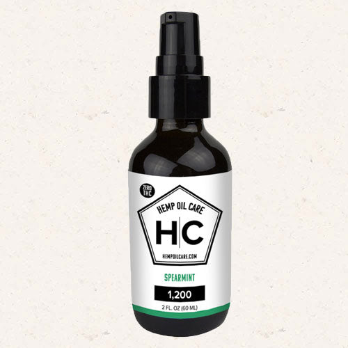Hemp Oil Care - THC-Free CBD Oil 2oz 1200mg CBD