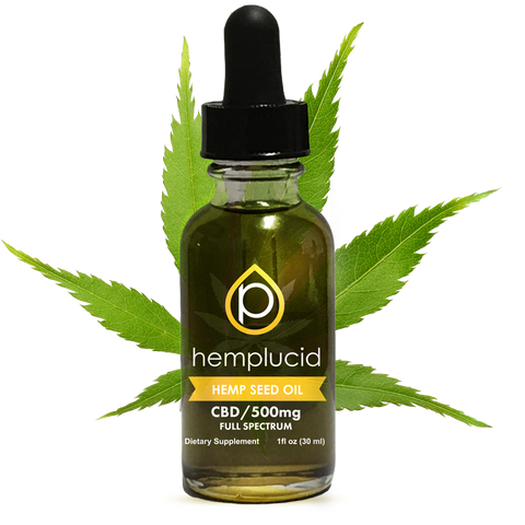 Hemplucid Hemp Seed Oil 250mg,  500mg, 1000mg, or 1500mg