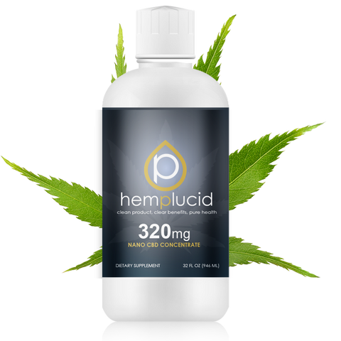 Hemplucid Nano CBD Water Concentrate - Full Spectrum Hemp Extract 320mg, 640mg, or 960mg