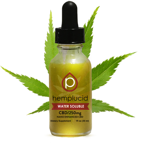 Hemplucid Water Soluble Nano Enhanced Tincture - 250mg, 500mg, 1000mg, or 1500mg