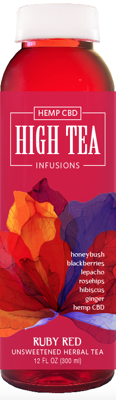 High Tea Today CBD Infusions 12oz Organic Cold Brew Iced Tea