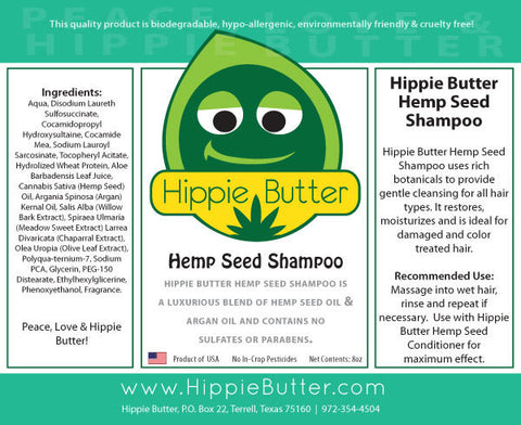 Hippie Butter Hemp Seed Oil Shampoo by the Case
