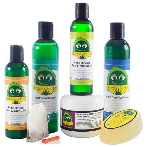 Hippie Butter All Natural Hemp Spa Gift Set