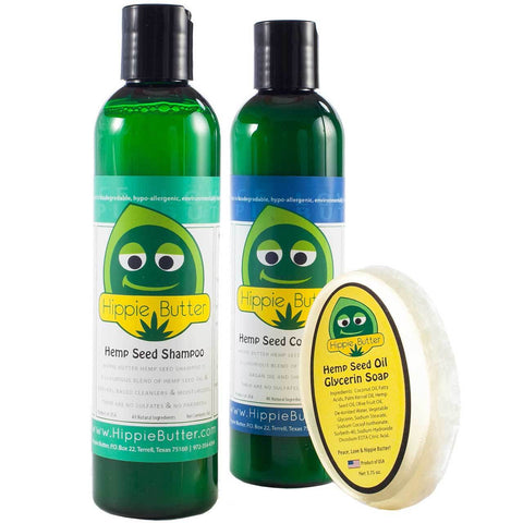 Hippie Butter NEW Hemp Hair Care Set