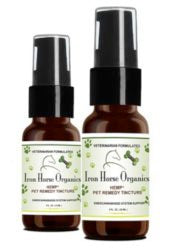 Iron Horse Organics Hemp+ CBD Oil Pet Remedy, Veterinarian Formulated 1oz or 2oz