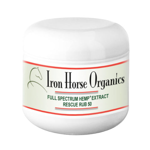 Iron Horse Organics Rescue Rub 50 or 200; Topical CBD Cream