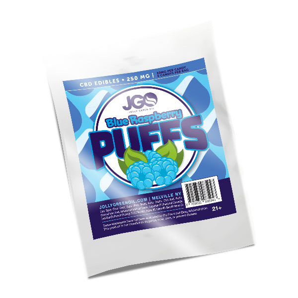 JGO CBD Blue Raspberry Puff Gummies - 250mg