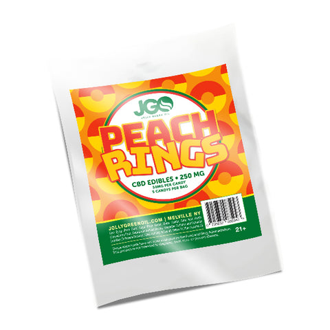 JGO CBD Peach Ring Gummies - 250mg
