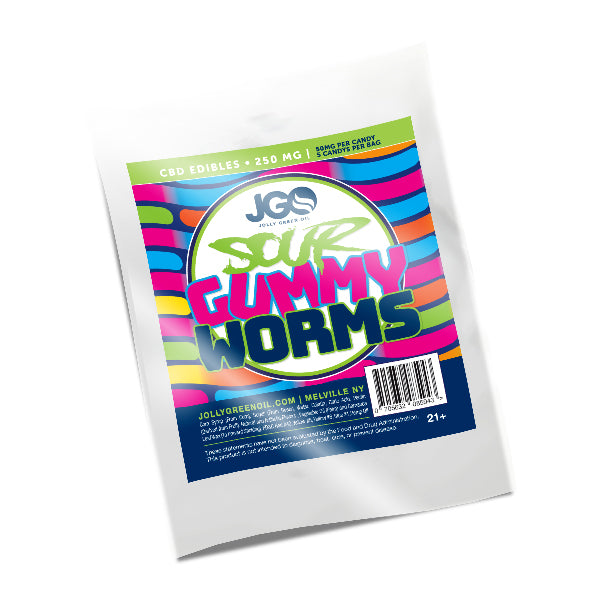 JGO CBD Infused Sour Gummy Worms - 250mg
