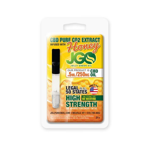 JGO Pure CBD Vape Cartridge Honey Infused - 250mg and 625mg CBD