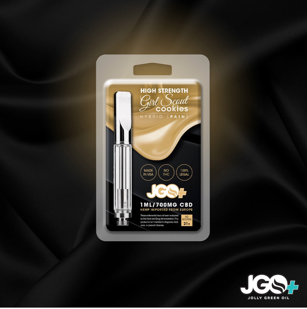 JGO+ High-Quality Terpene CBD Cartridges - 700mg