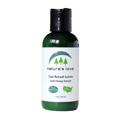 Nature's Love Fast ReLeaf Lotion - Full Spectrum Hemp Extract - 500MG (450MG CBD)