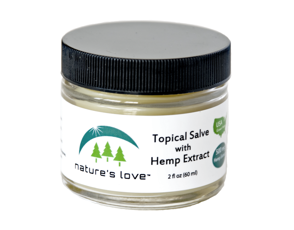 Nature's Love USDA Certified Organic Topical ReLeaf Salve - Full Spectrum Hemp Extract - 500MG (450MG CBD)