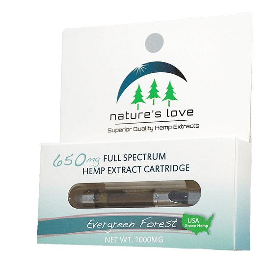 Nature's Love Full Spectrum Hemp Distillate Extract Vape Cartridge