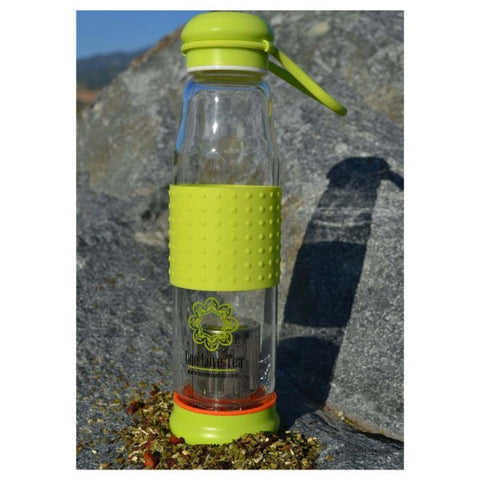 CBD Infused Tea - Glass CBD Tea Infuser Bottle