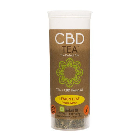 CBD Infused Tea - Lemon Leaf Yerba Mate
