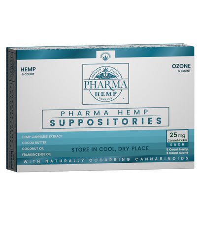 Pharma Hemp - Hemp CBD Suppository 25mg with Ozone