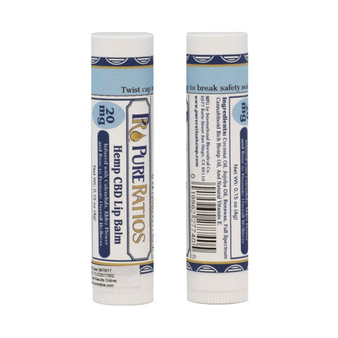 Pure Ratios CBD Lip Balm 20mg
