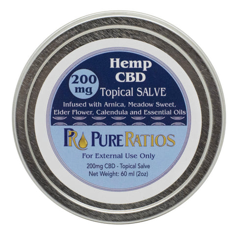 Pure Ratios CBD Topical Salve 50mg or 200mg